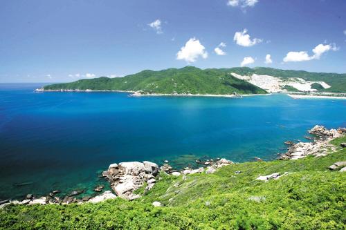 美丽的海棠湾景色 海南日报记者 张杰 摄