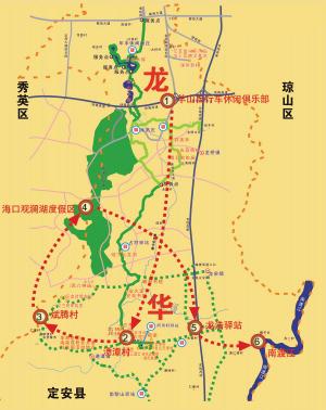 龙华大浪绿道地图
