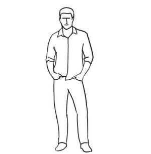 男人站立手绘画图