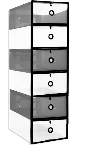 通顶鞋柜内部结构图