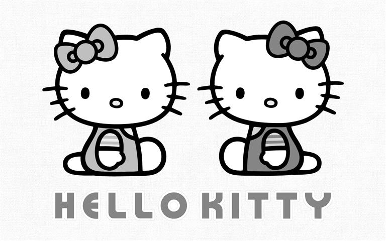 kitty并不是一只猫,而是一个小女孩的形象图片
