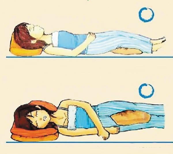 侧睡矢量图