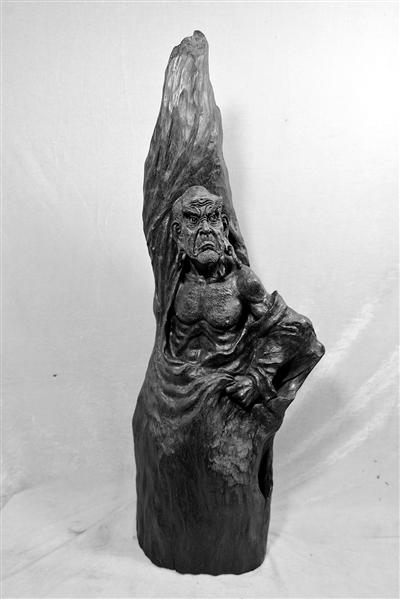 木雕罗汉百态图片