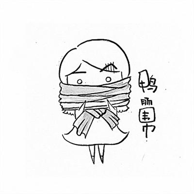 围巾简笔画步骤图解
