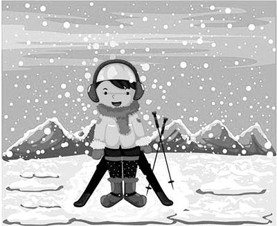 妈妈说,雪天最动人的莫过于哈着一团一团热气在雪地里堆雪人,打雪仗