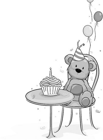 生日简笔画 手绘