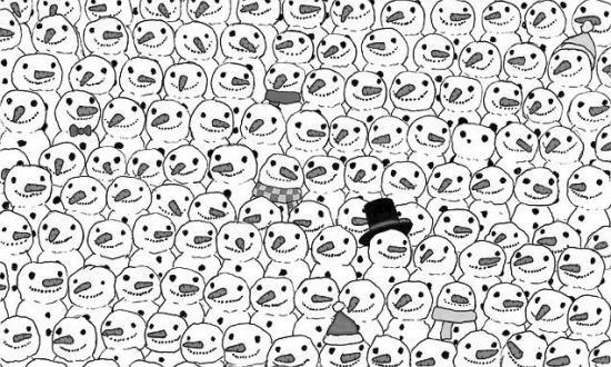 南国都市报数字报-你能从雪人里找到熊猫吗