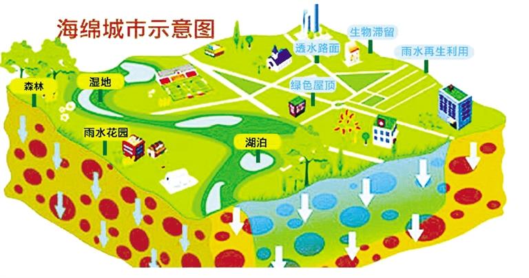 -->  南国都市报3月28日讯(记者 孙学新 党朝峰)城市排水不畅问题备受诟病,记者今天了解到,省政府出台了推进海绵城市建设的实施意见,提出打造海绵城市将70%的降雨就地消纳和利用。到2020年,城市建成区20%以上的面积达到海绵城市建设目标要求;三亚市作为国家海绵城市建设试点城市,全面总结试点经验,向全省推广。到2030年,城市建成区80%以上的面积达到目标要求。   据了解,海绵城市是指通过加强城市规划建设管理,充分发挥建筑、道路和绿地、水系等生态系统对雨水的吸纳、蓄渗和缓释作用,有效控制雨水径流