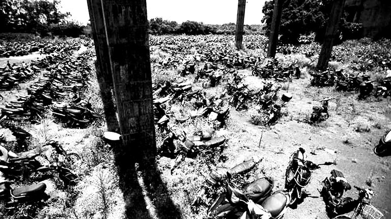 南国都市报数字报-海口甲子镇糖厂停车场里 br>8千辆