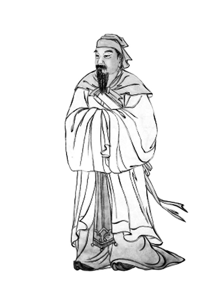 古代老人简笔画