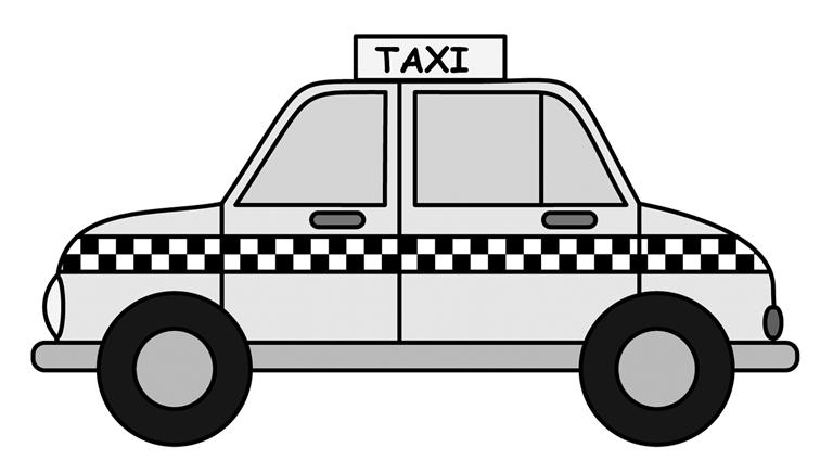 看到马路上行驶的出租车