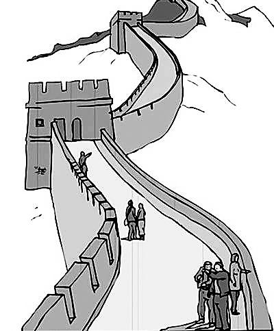 长城漫画图片简笔画